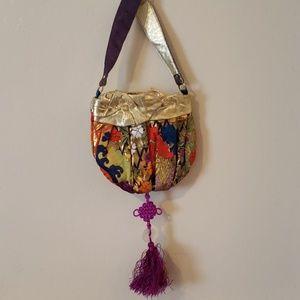 Candice Nicole multicolored boho bucket bag